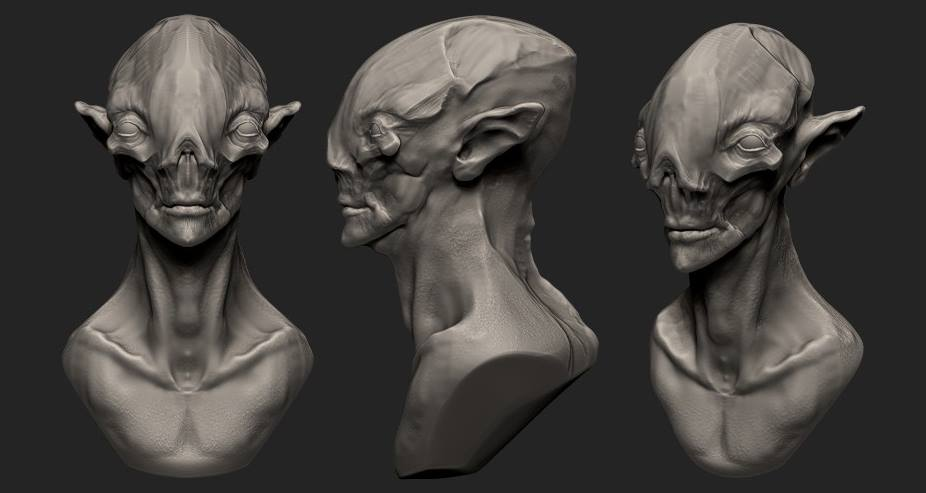 Quick sculpt: Alien bust